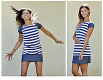 Šaty - Blue Stripes - šaty - 12067930_