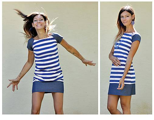 Blue Stripes - šaty