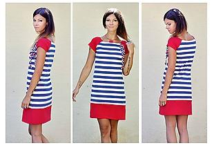 Šaty - Šaty Red Stripes - 12068295_