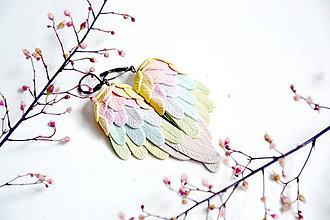 Náušnice - Krídla, (é krídla, náušnice, fimo) - 12067732_