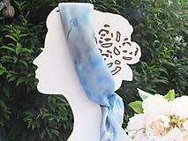 Šatky - Hodvábna šatka - Modrá nezábudka - 12068787_