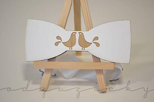 Motýlik holúbky (Detský motýlik biely klassic)