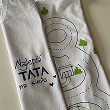 Oblečenie - Maľované pánske tričko pre unaveného ocka, ktorý sa chce aj tak hrať - 12069409_