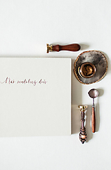 """Papiernictvo - Svadobná kniha hostí  """" Náš svadobný deň """" rosegold - 12070346_"""