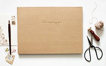 """Papiernictvo - Náš svadobný deň """"natur"""" - kniha hostí/fotoalbum - 12068358_"""