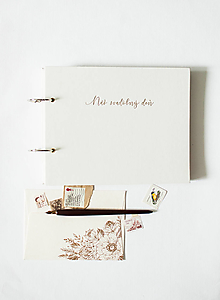 "Papiernictvo - Svadobná kniha hostí  "" Náš svadobný deň "" goldish - 12070331_"