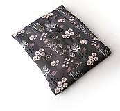Textil - Blúzkovina šedá s kvietkami - 12068342_