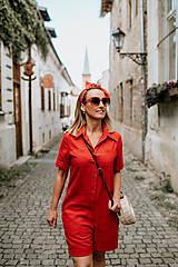 Iné oblečenie - Červený overal - krátky - 12067890_