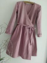 Šaty - Ľanové šaty - 12067745_