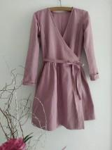 Šaty - Ľanové šaty - 12067746_