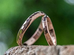 Prstene - Obrúčky srdcom tepané /slim verzia/ - 12074676_