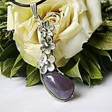 Náhrdelníky - Prívesok s fialovým chalcedónom ¤ MARIE ¤ - 12074195_