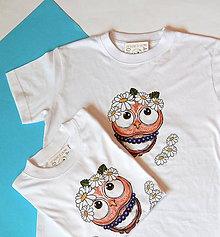 Detské oblečenie - Detské bavlnené tričko - OčiPuči sovička Margarétka - 12072825_