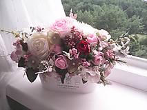 Dekorácie - Kvetinová dekorácia ... jemnosť ruží ... - 12071943_