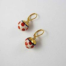 Náušnice - TANA hand made jewellery - keramika/zlato - 12071206_