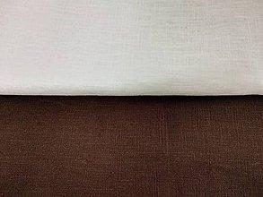 Textil - Ľan predpraný - biely, ecru, hnedý - 12072894_