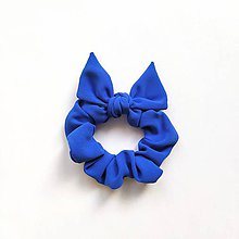 Ozdoby do vlasov - Recy-scrunchie modrá - 12072567_