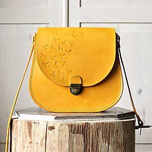 Kabelky - Kožená retro kabelka *Honey* - 12071506_