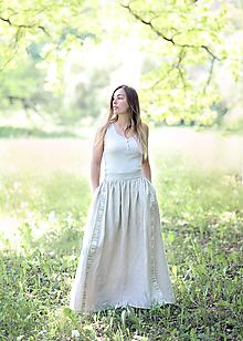 Sukne - sukňa Terka s vyšívaným opaskom - 12074008_