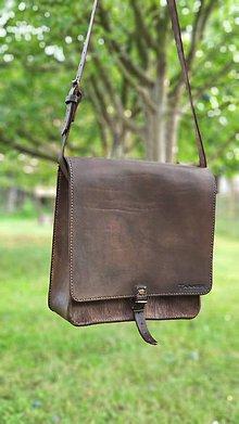 Veľké tašky - Kožená kapsa - 12072056_