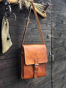 Veľké tašky - Kožená kapsa - 12072071_