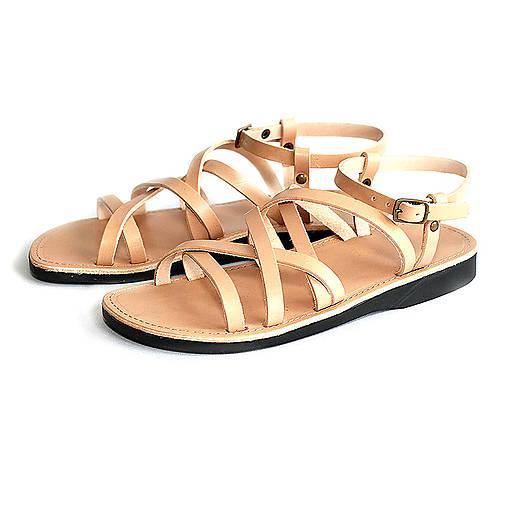 Obuv - Sandále REBEKA (41 - Cappuccino) - 12071572_