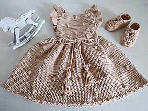 Detské oblečenie - Orieškové šatočky - 12071372_