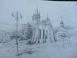 Kresby - Prešov, kostoly, 2 čb - 12072325_