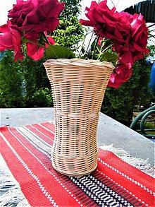 Dekorácie - Váza z pedigu so sklenenou fľašou - 12072173_