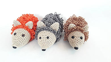 Hračky - ježko kučeravý/háčkovaná hračka - 12074544_