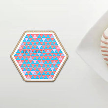 Dekorácie - Magic triangle geometry - grafický návrh na potlač na koláč (šesťuholník) - 12071628_