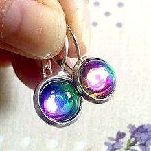Náušnice - Rainbow Earrings / Visiace náušnice s dúhovým očkom - 12075666_