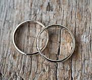Prstene - Obrúčky srdcom tepané /slim verzia/ - 12077760_