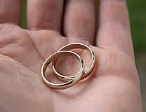 Prstene - Obrúčky srdcom tepané /slim verzia/ - 12077761_