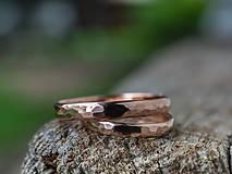 Prstene - Obrúčky srdcom tepané /slim verzia/ - 12077763_