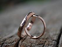 Prstene - Obrúčky srdcom tepané /slim verzia/ - 12077765_