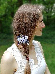 Ozdoby do vlasov - Ozdoba do vlasov Modrotlač - 12077106_
