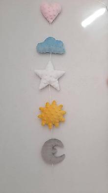 Detské doplnky - Girlanda obloha ...minky - 12075810_
