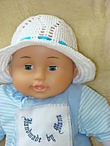 Detské čiapky - Ručne háčkovaný klobúčik  so stuhou - 12077727_