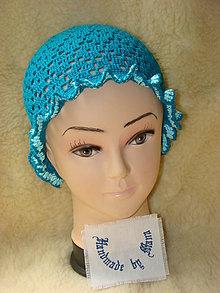 Detské čiapky - Ručne háčkovaný klobúk - 12077840_
