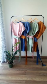 Šaty - Zero waste ľanové šaty - 12077103_