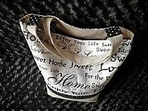 Nákupné tašky - Bavlnená taška na nákup - Home - 12075391_