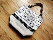 Nákupné tašky - Bavlnená taška na nákup - Home - 12075392_