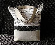 Nákupné tašky - Bavlnená taška na nákup - Home - 12075393_