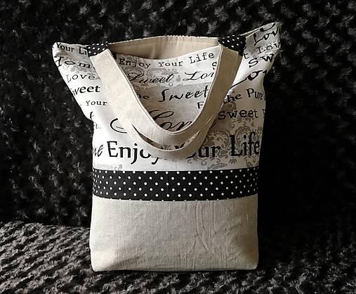 Bavlnená taška na nákup - Home