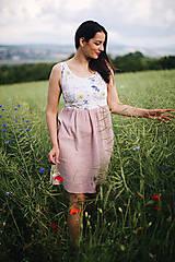 Mušelínové šaty na dojčenie flora