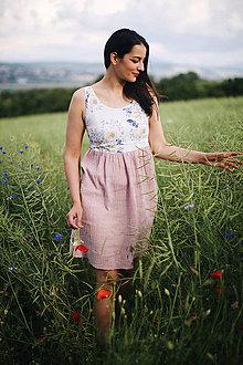 Šaty - Mušelínové šaty na dojčenie flora - 12076111_