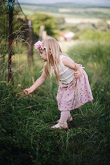 Sukne - Mušelínová suknička rose - 12076405_