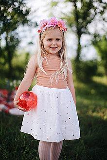 Sukne - Mušelínová suknička white gold - 12076417_