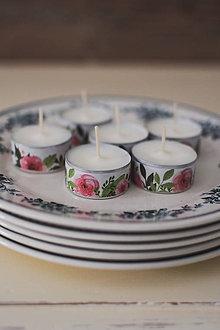 Svietidlá a sviečky - Čajové sviečky bez parfumácie - 12075235_